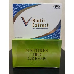 Natures Bio Greens (prebiotics) & V Biotic (probiotics)